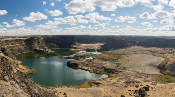 Dry Falls Panorama in Sun Lakes-Dry Falls State Park