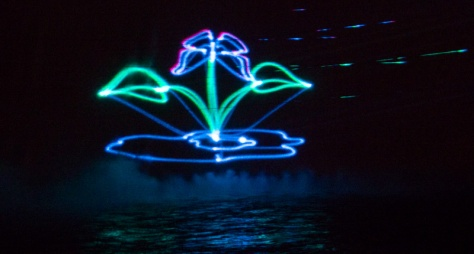 Grand Coulee Dam Laser Show - Flower