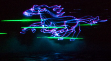 Grand Coulee Dam Laser Show - Running Horse