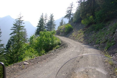 A typical section of the road to Harts Pass