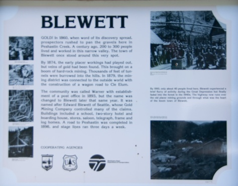 Town of Blewett Historical Marker