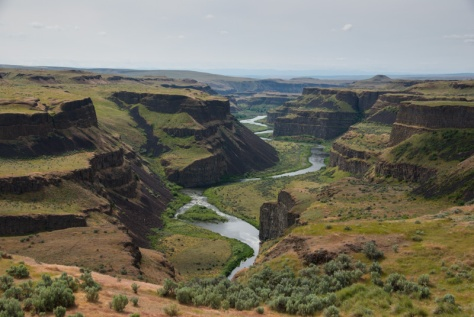 Palouse River downstream from Palouse Falls