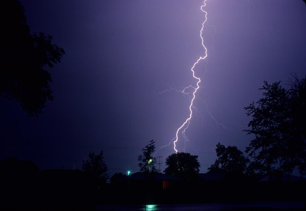 Lightning in Spokane, Washington