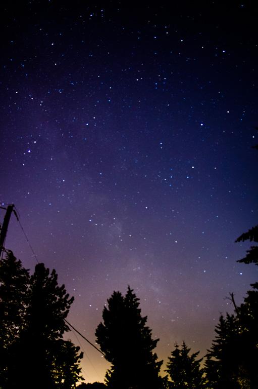 Milky Way from Edmonds, Washington