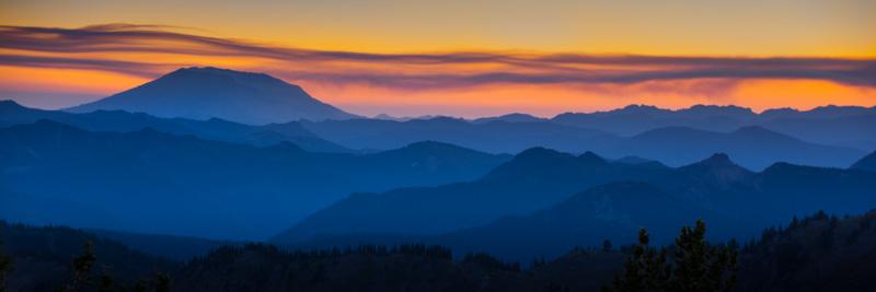 Mountain Layers, Pacific Crest Trail, Washington